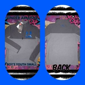 NWT~ BOY'S SMALL UA 1/4 ZIP PULLOVER